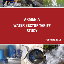armenia water sector tariff study cover photo