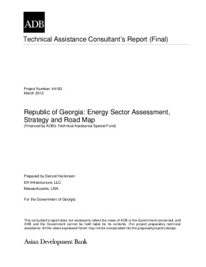Republic of Georgia: Energy Sector Assessment, Strategy and Road Map