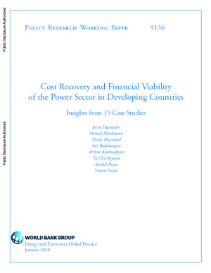 Cost Recovery and Financial Viability of the Power Sector in Developing Countries