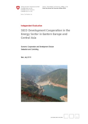 SECO Development Cooperation in the Energy Sector in Eastern Europe and Central Asia: Independent Evaluation