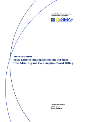 Modernization of the District Heating Systems in Ukraine: Heat Metering and Consumption-Based Billing